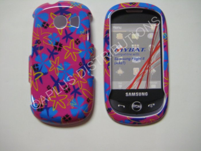 New Blue Starfish Hard Protective Cover For Samsung Flight II A927 - (0018)