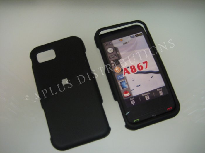 New Black Rubberized Hard Protective Cover For Samsung Eternity A867 - (0051)