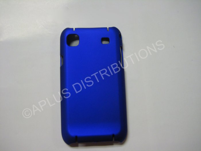 New Blue Rubberized Hard Protective Cover For Samsung Galaxy S I9000 - (0053)