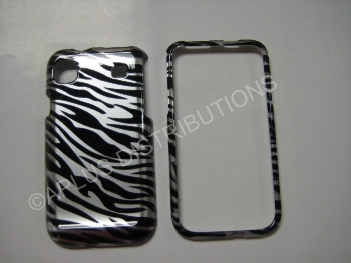 NEW ZEBRA METALLIC DESIGN HARD PROTECTIVE COVER FOR SAMSUNG GALAXY I9000-BLACK/SILVER