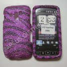 New Hot Pink Zebra Design Bling Diamond Case For HTC Touch Pro 2 (GSM) - (0003)
