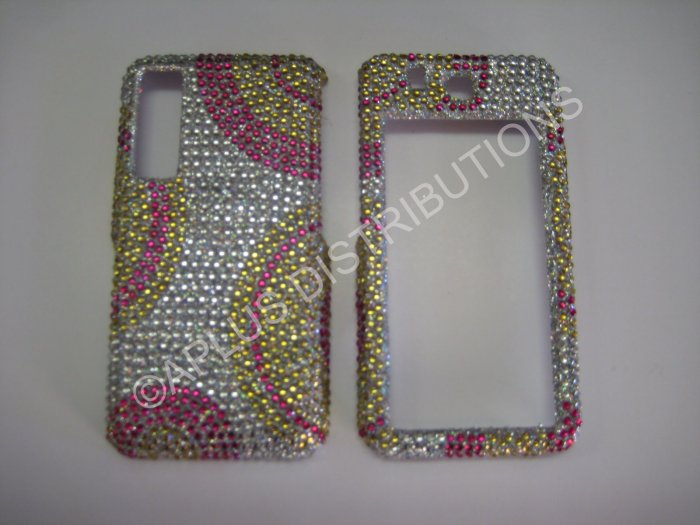 New Pink Half Circle Bling Diamond Case For Samsung Behold T919 - (0012)