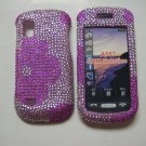 New Hot Pink Half Flower Bling Diamond Case For Samsung Solstice A887 - (0002)