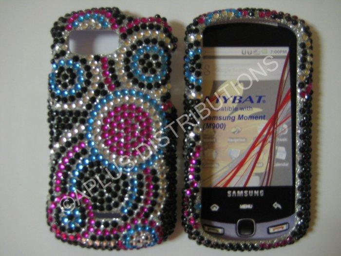 New Multi-Color Multi Circles Bling Diamond Case For Samsung Moment M900 - (0018)