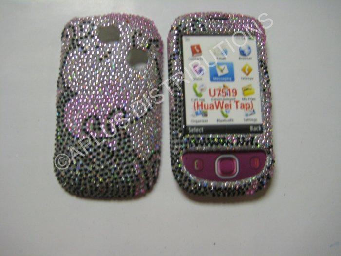 New Black Swirlz Design Bling Diamond Case For T-Mobile Tap - (0007)