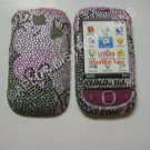 New Black Swirlz Design Bling Diamond Case For T-Mobile Tap - (0007)