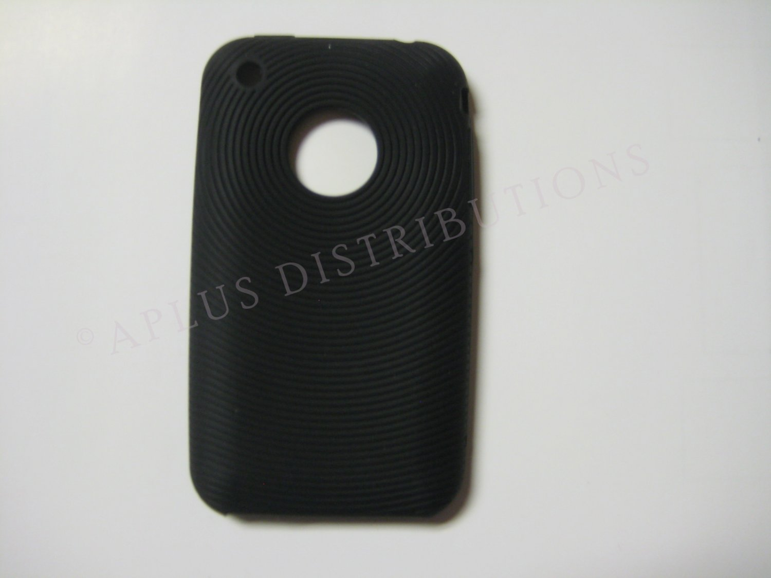 New Black Thumb Print Pattern Silicone Cover For iPhone 3G 3GS - (0004)