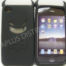 New Black Devil Design Silicone Cover For iPhone 4 - (0091)