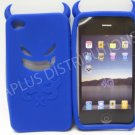 New Dark Blue Devil Design Silicone Cover For iPhone 4 - (0187)
