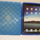 NEW Lattice Design Silicone Gel Case Skin For iPad - Neon Blue