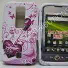 New Pink Double Hearts Design TPU Cover For Huawei Ascend M860 - (0020)