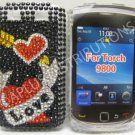 New Red Heart Series Bow N Arrow Bling Diamond Case For Blackberry 9800 - (0148)