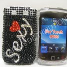 New Black Sexy Pearl Bling Diamond Case For Blackberry 9800 - (0150)