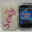 New Pink Sexy Pearl Bling Diamond Case For Blackberry 9800 - (0151)