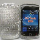 New White Solid Crystal Bling Diamond Case For Blackberry 9800 - (0097)