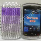 New Shades Of Purple Crystal Bling Diamond Case For Blackberry 9800 - (0152)