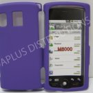 New Purple Rubberized Design Hard Protective Cover For Kyocera Zio M6000 - (0057)