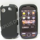 New Black Rubberized Hard Protective Cover For Samsung Messager Touch R630 - (0051)