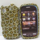 New Gold Cheeta Design Bling Diamond Case For Samsung Messager Touch R630 - (0014)