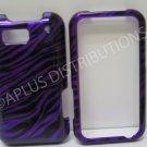 New Purple Metallic Zebra Design Hard Protective Cover For Motorola Defy MB525 - (0046)