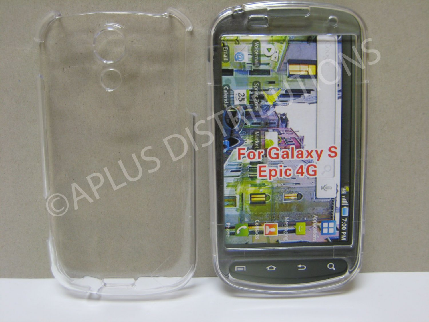 New Clear Transparent Hard Protective Cover For Samsung Epic 4G - (0059)