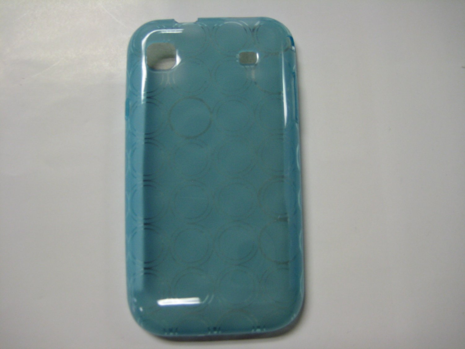 New Blue Transparent Multi-Circles TPU Cover For Samsung Galaxy S I9000 - (0004)