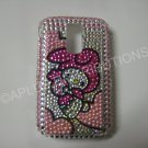 New Pink Melody W/Candy Bling Diamond Case For Blackberry 9000 - (0066)