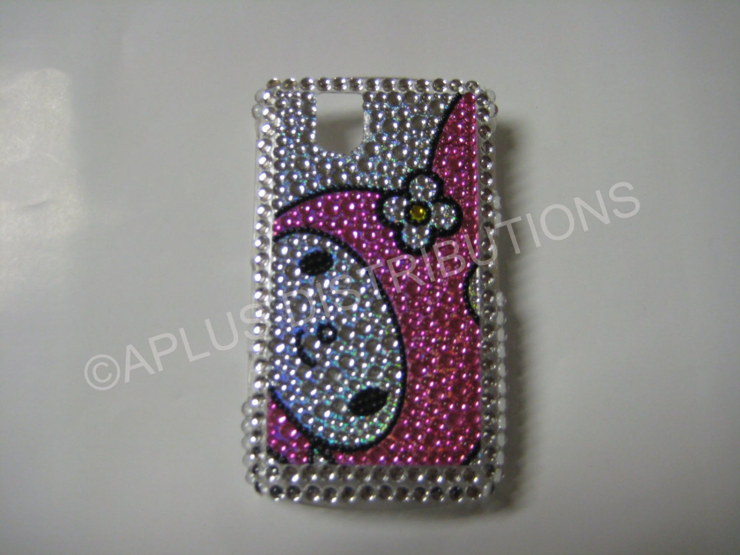 New Pink Melody Face Bling Diamond Case For Blackberry 9630 - (0086)