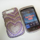 New Purple Growing Heart Bling Diamond Case For Blackberry 9800 - (0117)