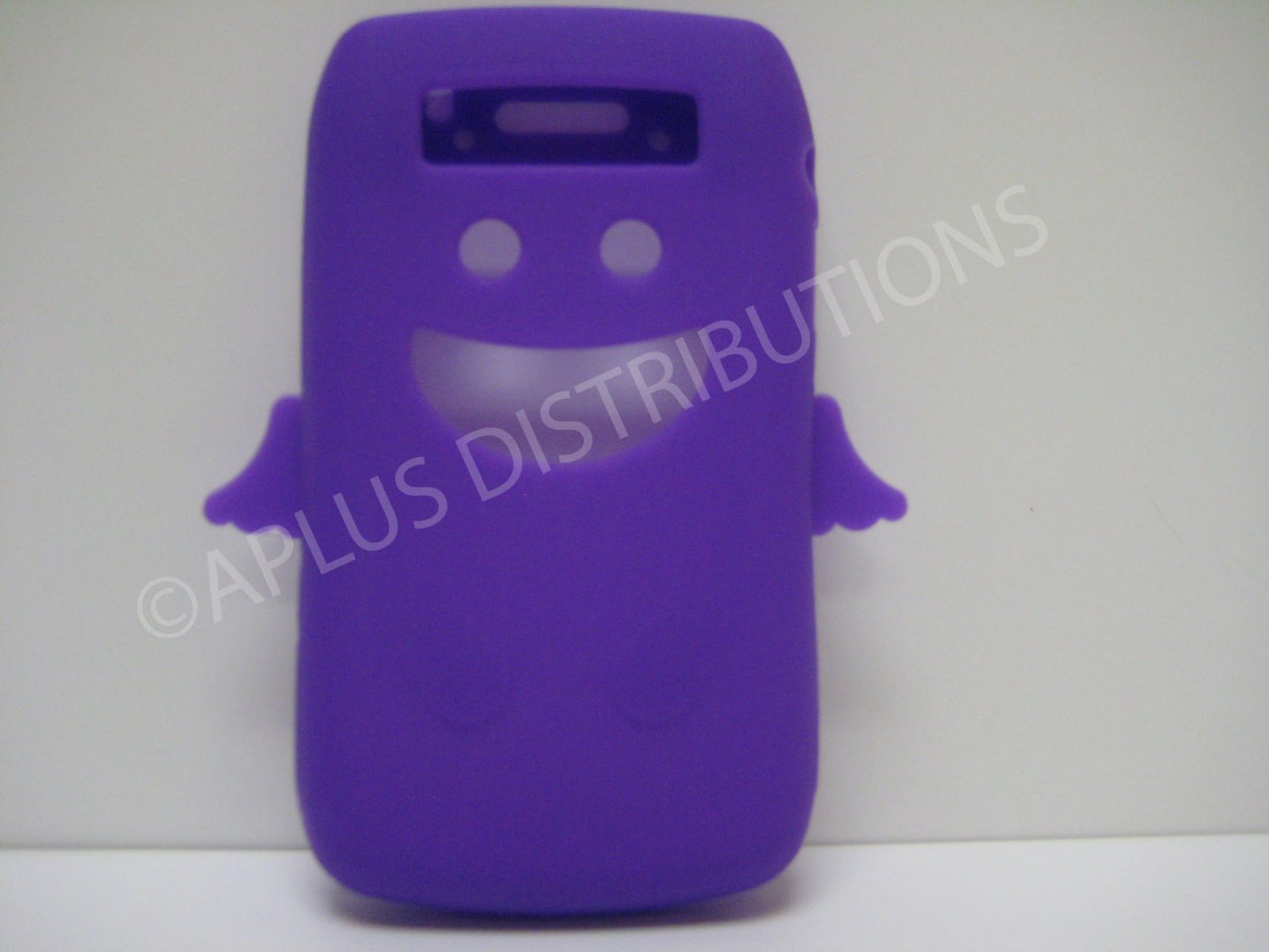 New Purple Angel Design Silicone Cover For Blackberry 9700 - (0181)