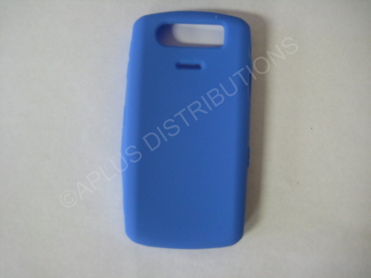 New Blue Solid Color Silicone Cover For Blackberry 8120/8110/8130 - (0198)