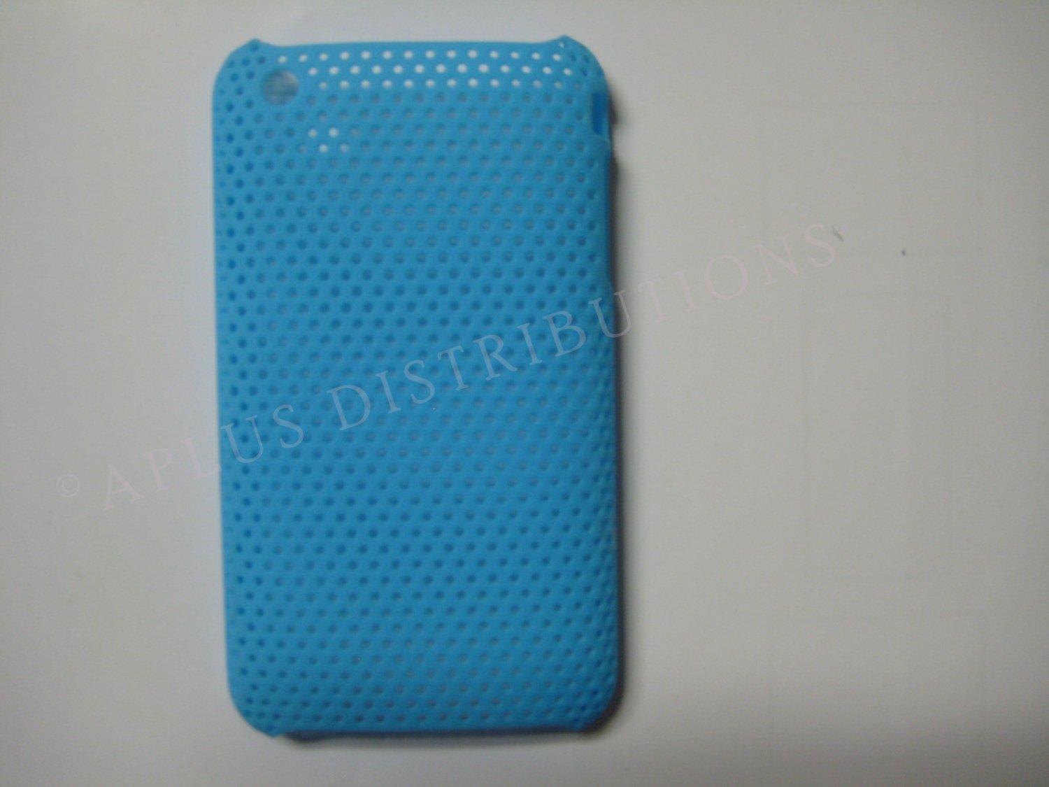 New Light Blue Lattice Pattern Design Hard Protective Cover For iPhone 3G 3GS - (0017)