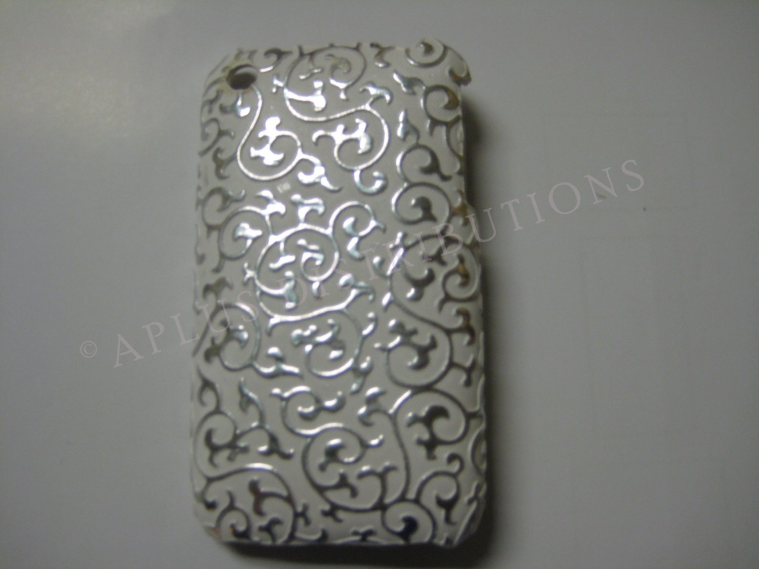 New Silver Princess Swirl Design Hard Protective Cover For iPhone 3G 3GS - (0025)