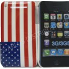 New Red/Wht/Blu American Flag Design Hard Protective Cover For iPhone 3G 3GS - (0094)