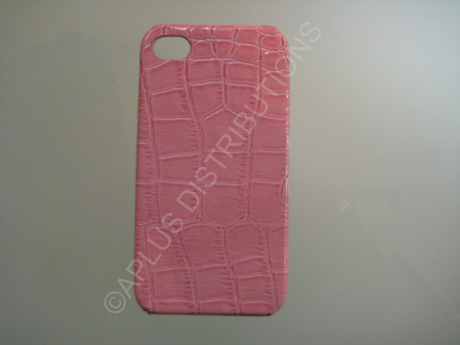 New Pink Alligator Skin Pattern Hard Protective Cover For iPhone 4 - (0049)