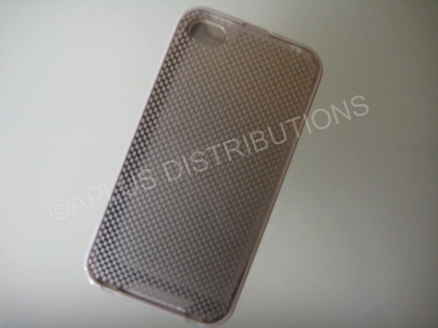 New White Transparent Checkered Pattern Hard Protective Cover For iPhone 4 - (0146)
