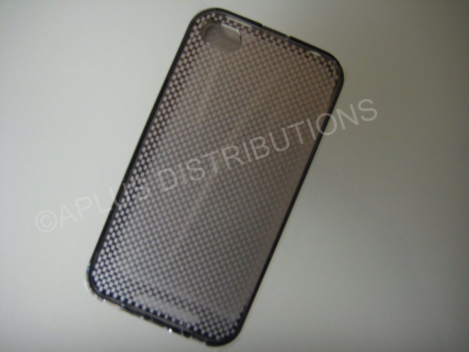 New Black Transparent Checkered Pattern Hard Protective Cover For iPhone 4 - (0147)