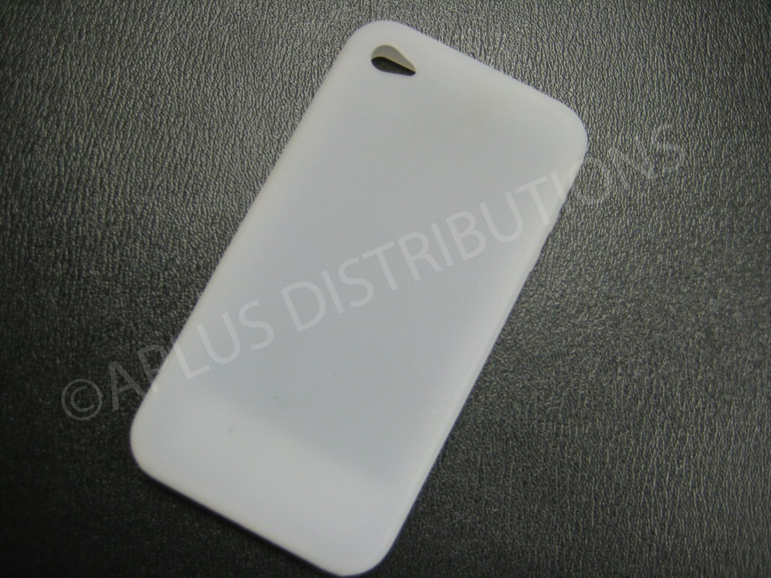 New Clear Solid Skin Color No Dot Design Silicone Cover For iPhone 4 - (0129)
