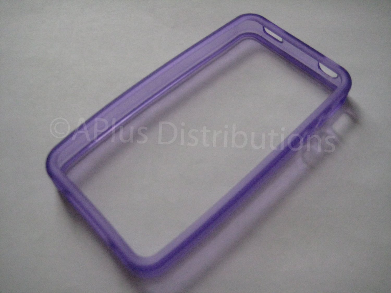 New Purple Bumper Design TPU Cover For iPhone 4 - (0051)