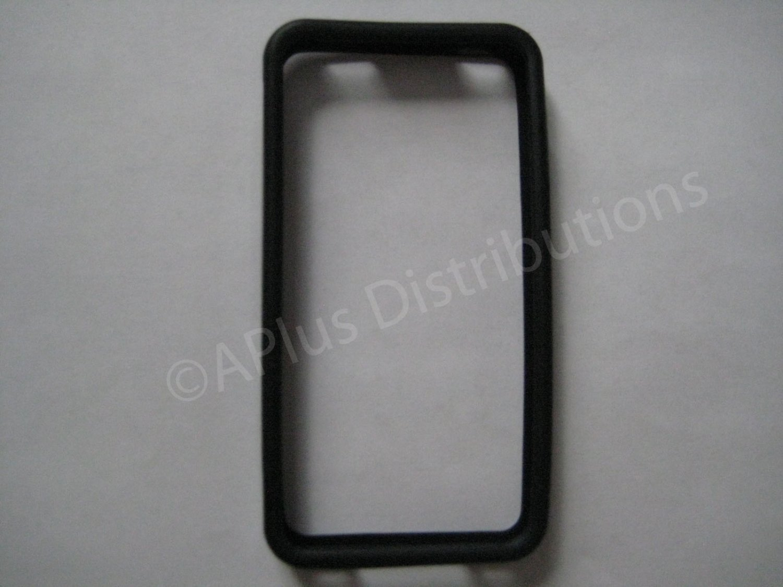 New Black Bumper Design TPU Cover For iPhone 4 - (0050)