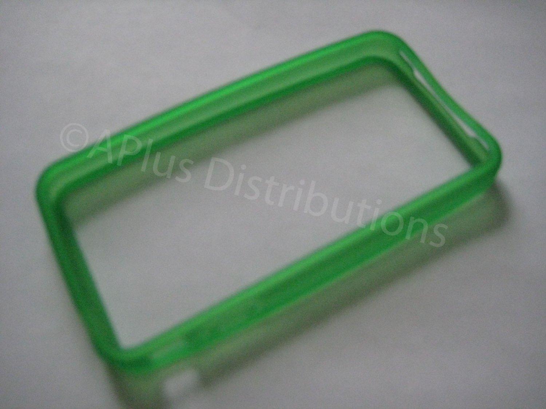 New Green Bumper Design TPU Cover For iPhone 4 - (0048)