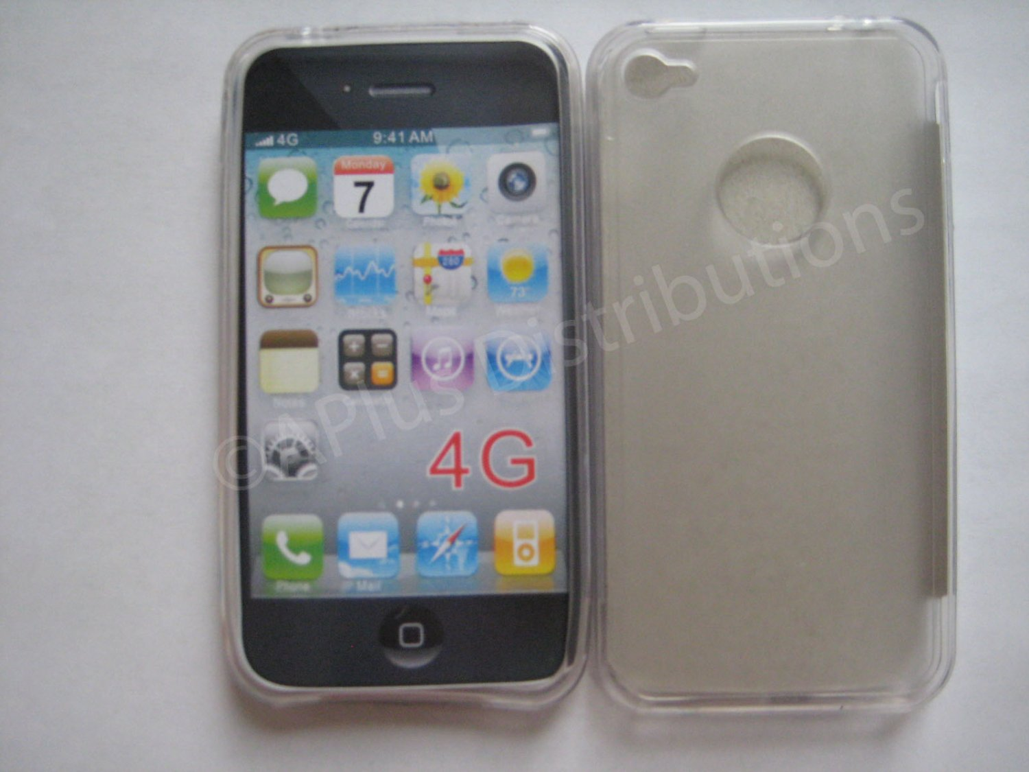 New Clear Tpu/Soft Combo Design TPU Cover For iPhone 4 - (0055)