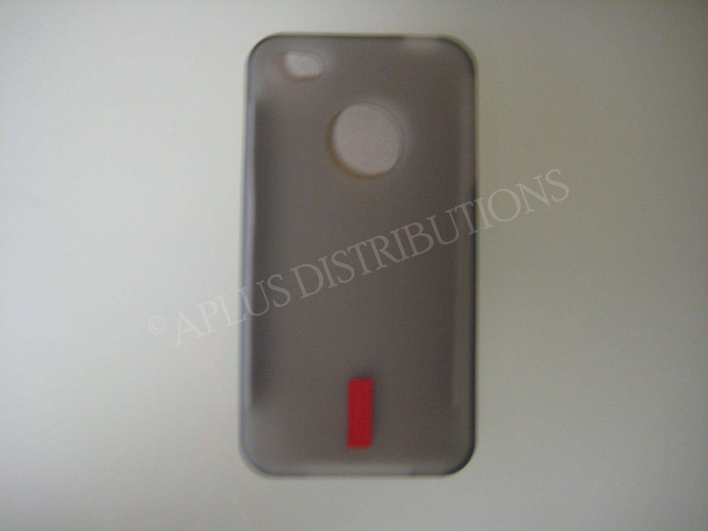 New Smoke Transparent No Hole Design TPU Cover For iPhone 4 - (0047)