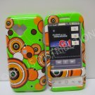 New Green Groovy Series (Multi-Circles) Hard Protective Cover For HTC G1 Dream - (0031)