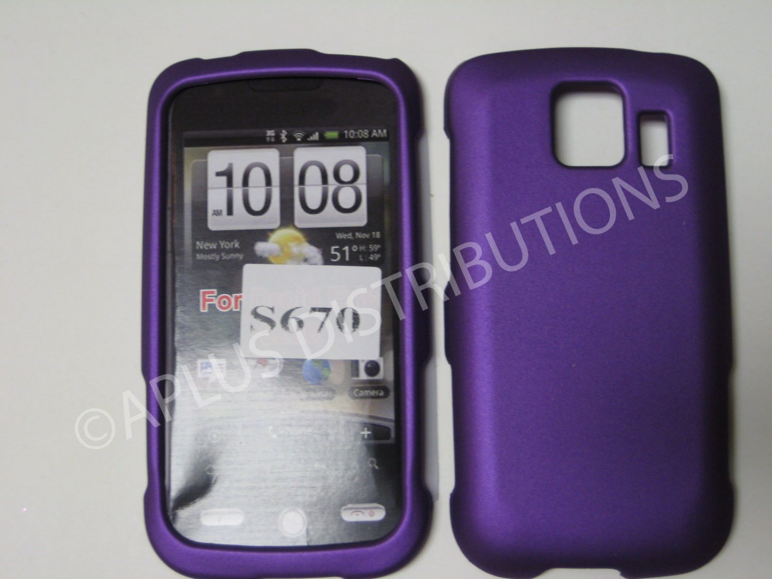 New Purple Rubberized Hard Protective Cover For LG Optimus S LS670 - (0057)