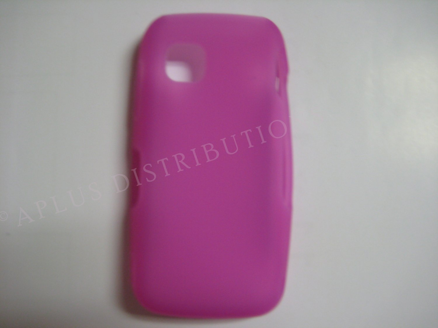 New Hot Pink Solid Color Silicone Skin Case For Nokia Nuron 5230 - (0009)