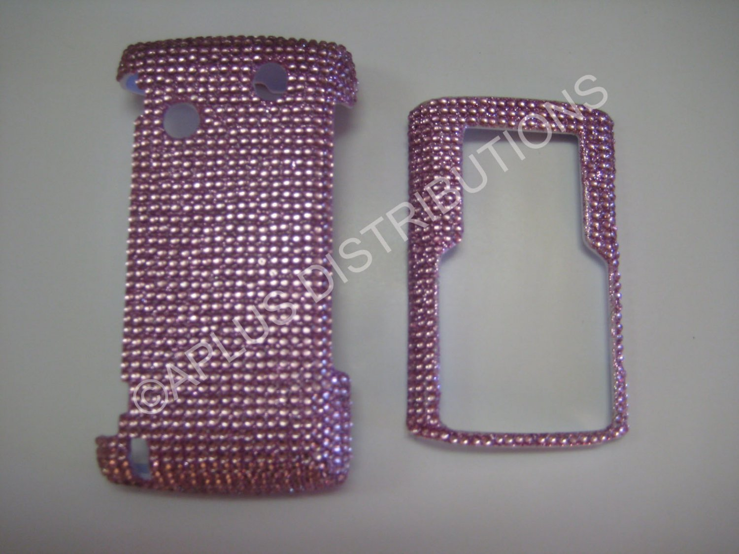 New Pink Solid Design Bling Diamond Case For Samsung Comeback T559 - (0009)