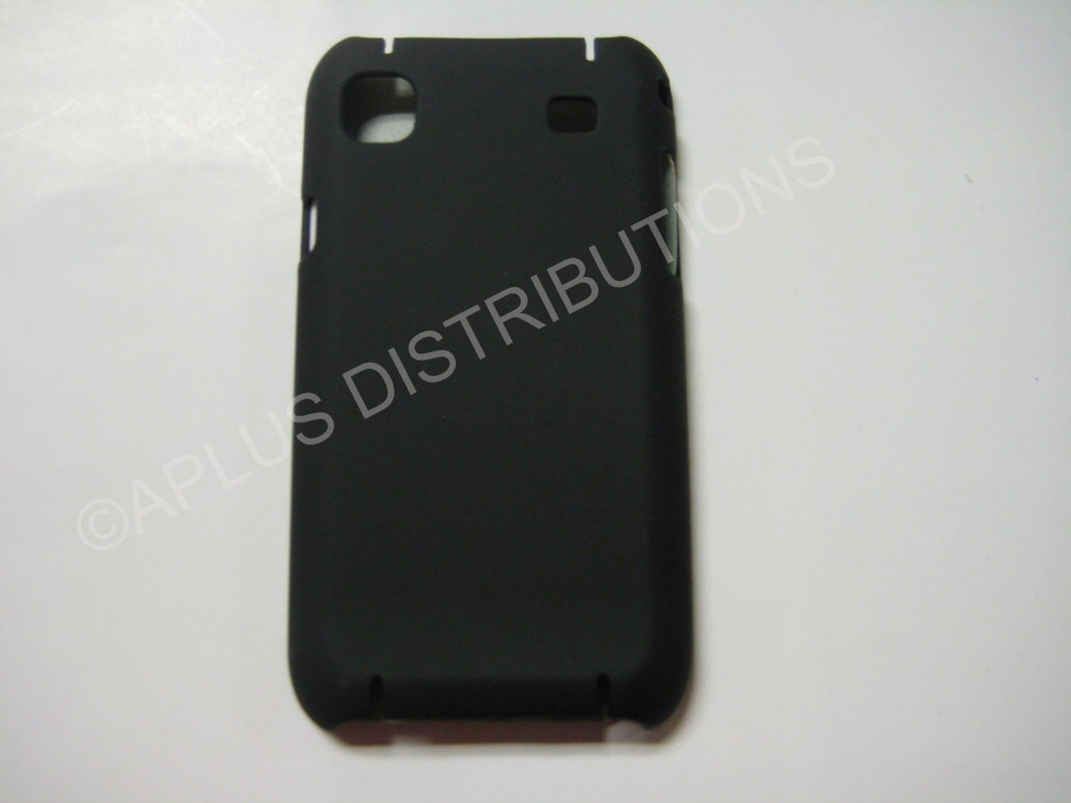 New Black Rubberized Hard Protective Cover For Samsung Galaxy S I9000 - (0051)