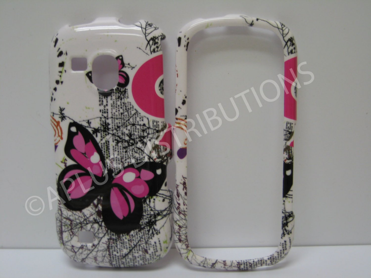 New Pink Butterfly Series Hard Protective Cover For Samsung Galaxy S Continuum - (0040)