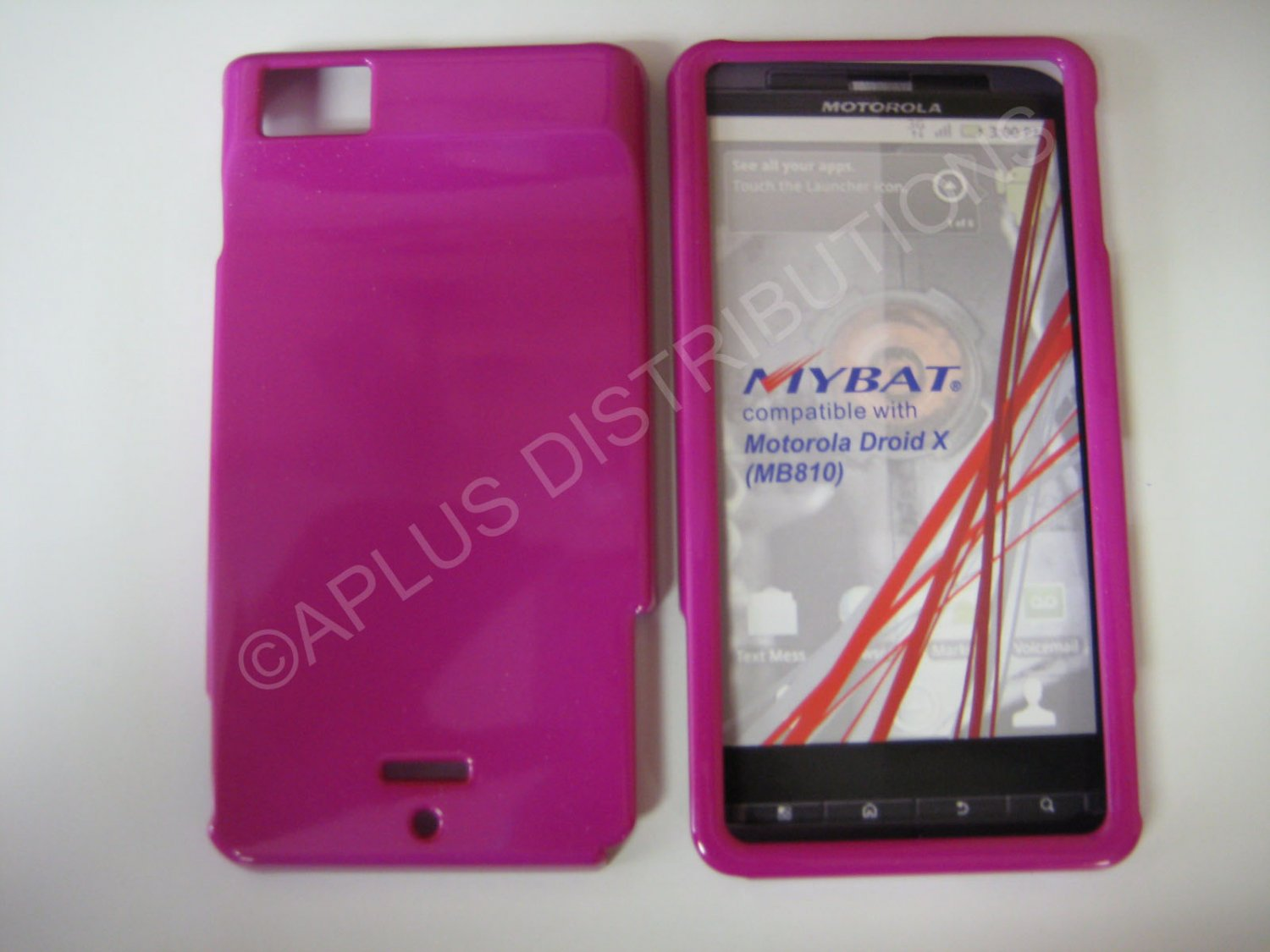 New Hot Pink Solid Color Hard Protective Cover For Motorola Droid X MB810 - (0063)